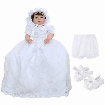 Bow Dream Baby Girls Christening Baptism Dress Formal Party