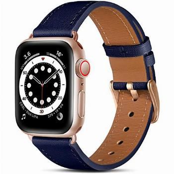 Easuny Leather Band Compatible with Apple Watch SE 40mm 38mm