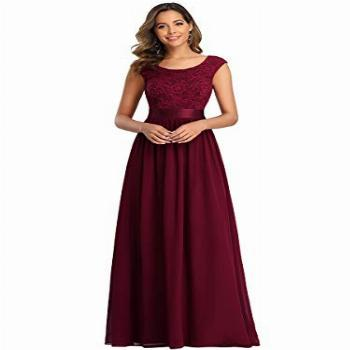 Ever-Pretty Women's A-line Lace Wedding Guest Gowns Long