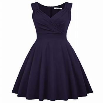 GRACE KARIN Women's 50s Style A-line Cocktail Party Dress