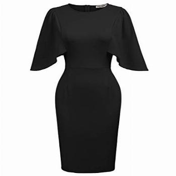 GRACE KARIN Women's Round Neck Hips-Wrapped Bodycon Pencil