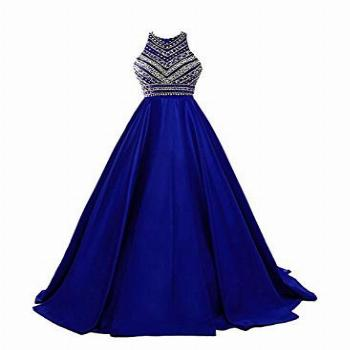 HEIMO Women's Sequins Evening Party Gowns for Teens Beading