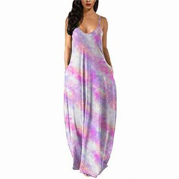 NJGRAE Sundresses for Teens Casual Women Sexy Loose Printed