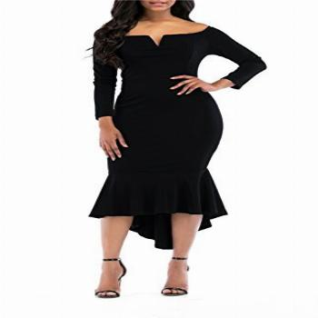 onlypuff Fishtail Dress High Low Bodycon Dresses