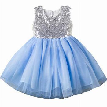 Pageant Gowns Baby Girl Dress Blue Newborn Infant Baby