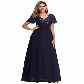 Women's Embroidered Evening Gowns Long Formal Ball Gowns