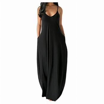 Womens Plus Size Maxi Dresses with Pockets, Casual Summer