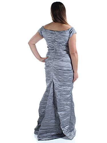 Alex Evenings Womens Long Fitted Off The Shoulder Dress,