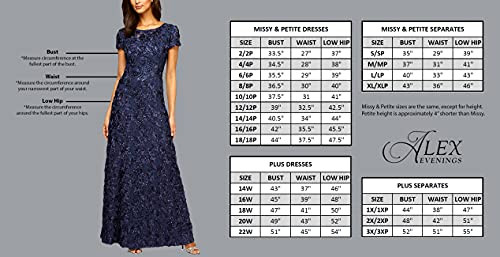 Alex Evenings Womens Petite Slimming Long Side Ruched Dress