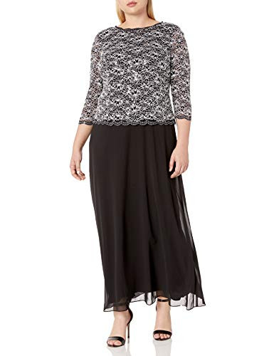 Alex Evenings Womens Plus-Size Long Evening Gown with