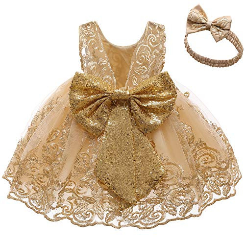 Baby Girls Easter Lace Dresses Toddler Tulle Ruffles