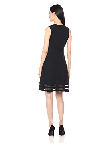Calvin Klein Womens Sleeveless Round Neck Fit and Flare