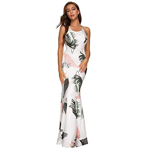 CapsA Womens Strappy Backless Evening Formal Dresses Summer