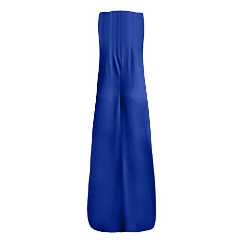 Casual Summer Plus Size Solid Sleeveless O-Neck Tank Dress