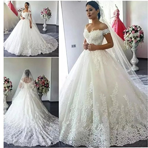 Chady Gorgeous Off Shoulder Lace Wedding Dresses for Bride