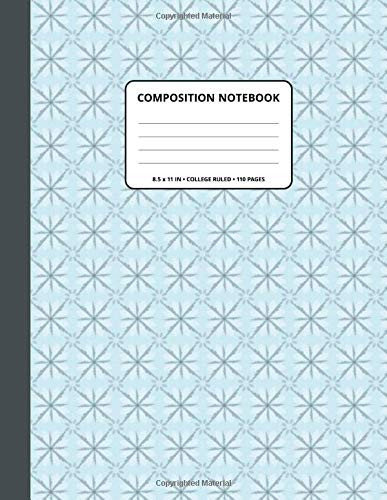 Composition Notebook Decoration 433 Pattern Background and