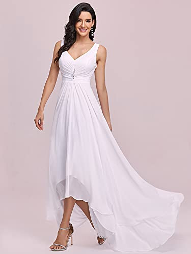 Ever-Pretty Juniors V-Neck Ruched Waist Long Winter Formal