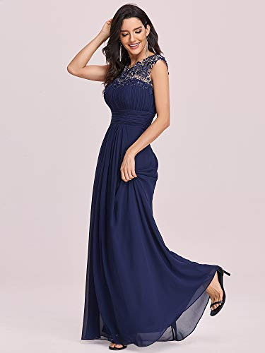 Ever-Pretty Ruched Bust A Line Wedding Guest Dress for Women