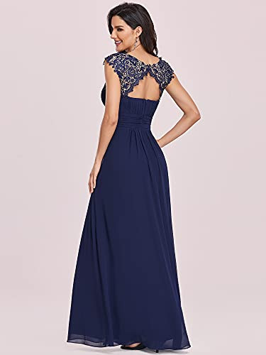 Ever-Pretty Short Sleeve Ruched Maxi Prom Gown Formal Party