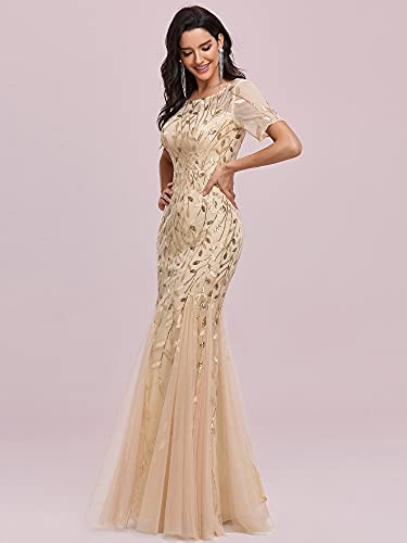 Ever-Pretty Womens Floral Lace Sweetheart Illusion Maxi