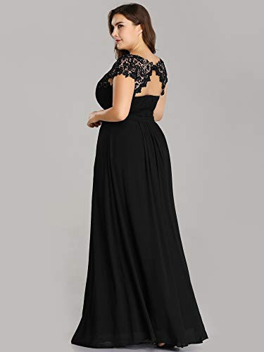 Ever-Pretty Womens Floral Lacey Plus Size Long Maxi Wedding