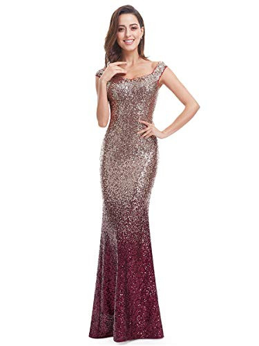 Ever-Pretty Womens Long Sequins Formal Maxi Dress 08 US Red