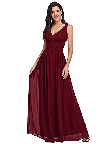 Ever-Pretty Womens Maxi Ruched Long Casual Chiffon Party