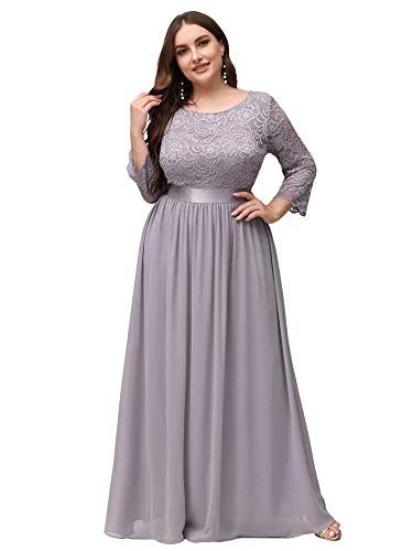 Ever-Pretty Womens Plus Size Lace Evening Formal Dress
