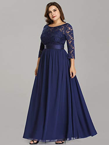 Ever-Pretty Womens Ruched Waist Long Sleeve Maxi Dresses