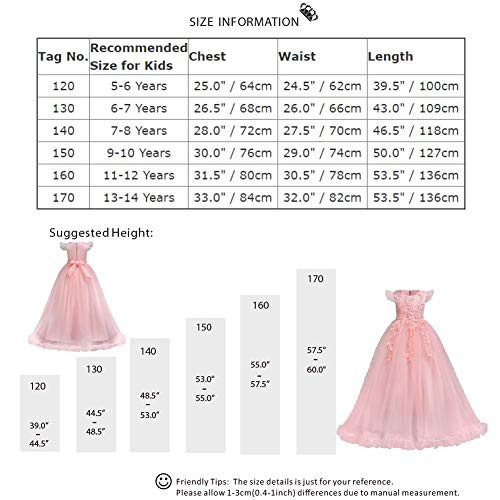 Girls Lace Bridesmaid Dress Long A Line Wedding Pageant