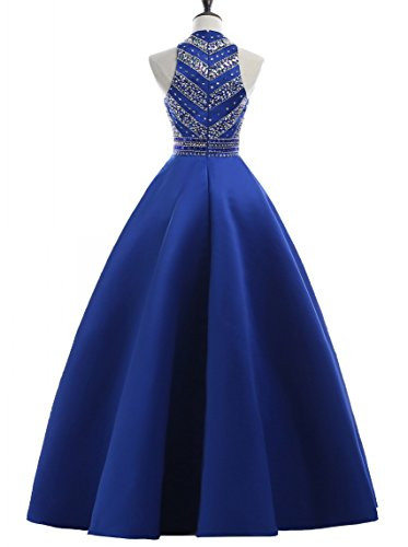 HEIMO Womens Sequins Evening Party Gowns for Teens Beading