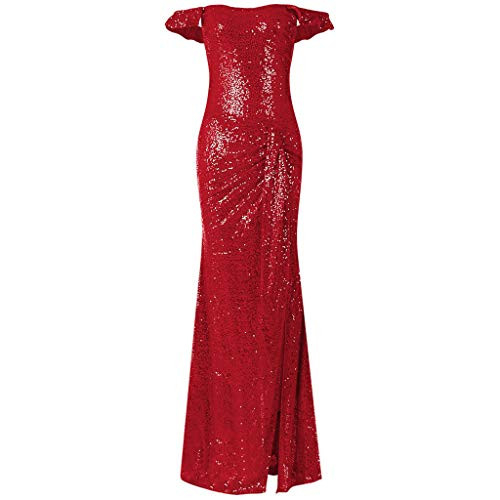 Hotkey Womens Formal Dresses Off The Shoulder Sequin Party