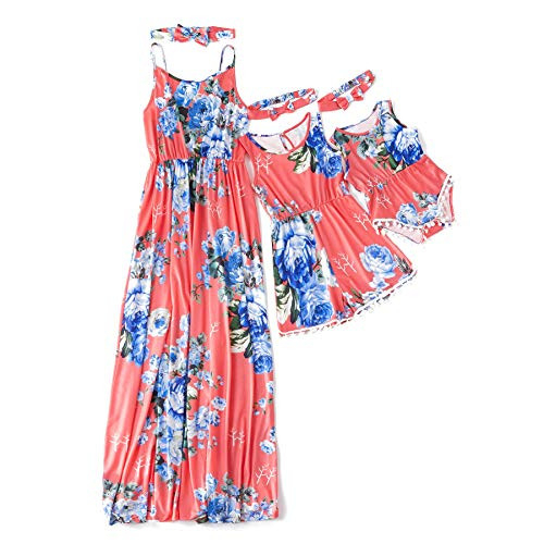 IFFEI Mommy and Me Matching Dress Spaghetti Strap Summer