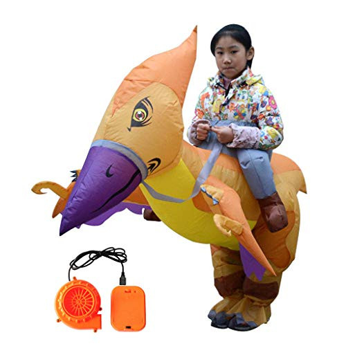 Inflatable Child Riding Pterodactyl Costume Fancy Dress