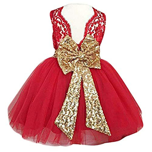Lace Formal Sequins Flower Girl Dress for Girl Party Pageant