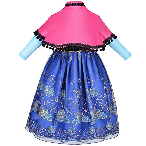 Little Girls Princess Dress Up Costumes with Cape Halloween