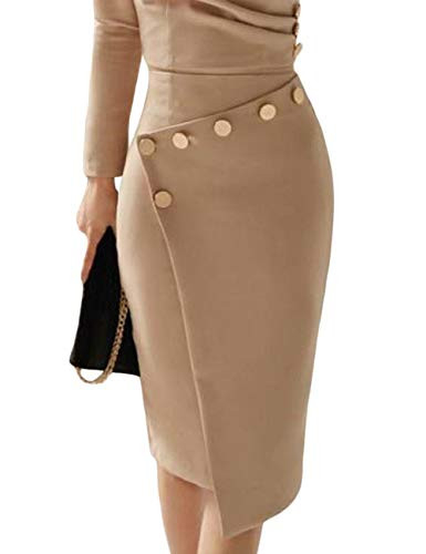 Lrady Womens Deep V Neck Casual Work Bodycon Cocktail Party