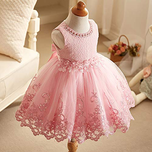LZH Baby Girls Dress Formal Gowns Pageant Birthday Lace