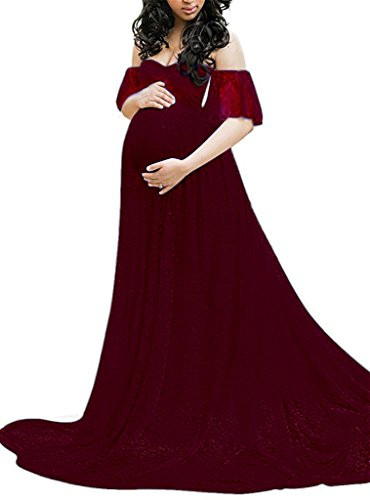 Maternity Photography Props Floral Lace Dress Fancy