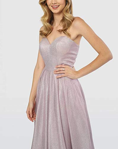 Meet Satin Prom Dresses Long Strapless Formal Evening Gown