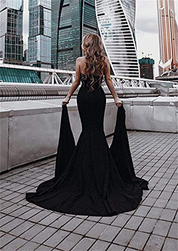 Miss ord Womens Sexy Formal Strapless Asymmetric Slit Long