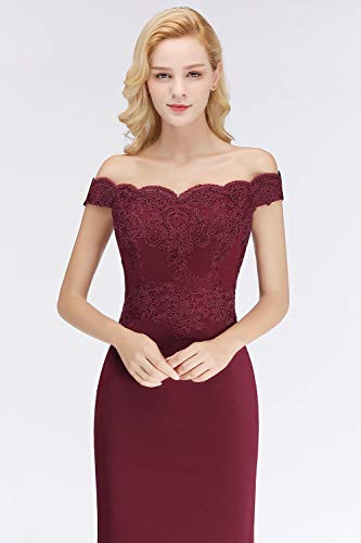 MisShow Womens Embroidery Lace Mermaid Formal Gowns and