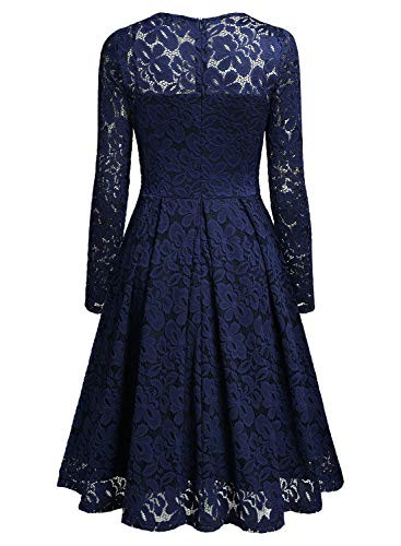 MISSMAY Womens Vintage Floral Lace V Neck Cocktail Party