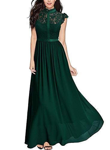 Miusol Womens Formal Floral Lace Cap Sleeve Evening Party