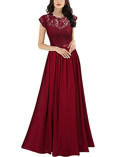 Miusol Womens Formal Floral Lace Evening Party Maxi Dress