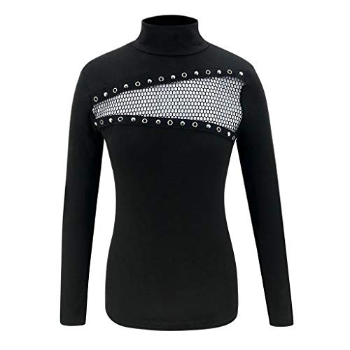 NANTE Top Loose Womens Blouse Turtleneck Sexy Tight Fitting