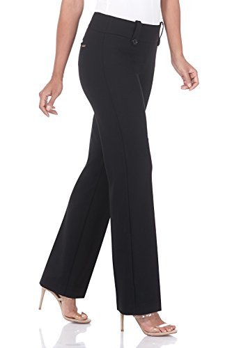 Rekucci Womens Smart Desk to Dinner Stretch Bootcut Pant
