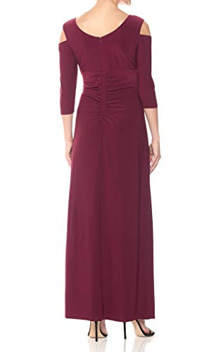 RampM Richards Womens Empire Waist Cold Shoulder with Sleeves