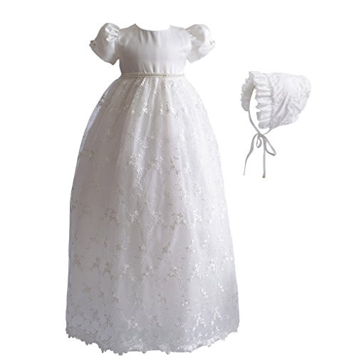 Romping House Baby Girls Floral Lace Empire Waist Organza