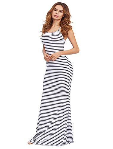 SheIn Womens Strappy Backless Summer Evening Party Maxi